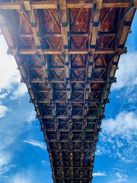 錦帯橋-裏
