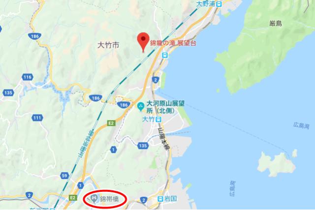 錦竜の滝-地図