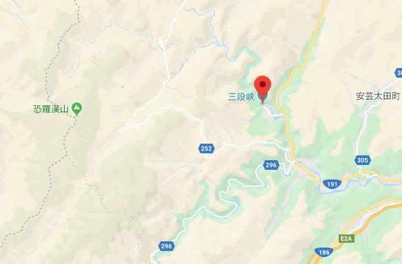 三段峡地図