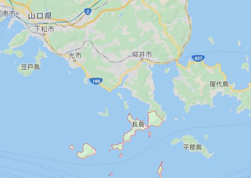 山口県上関地図